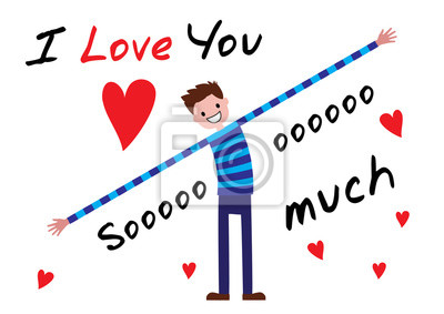 Ich Liebe Dich Ich Liebe Dich So Sehr Editablr Vektor