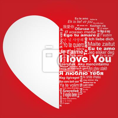 Ich liebe dich in allen Sprachen