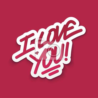 Ich liebe dich Valentinstag-Karte. Vektor