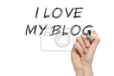 Ich liebe meinen Blog