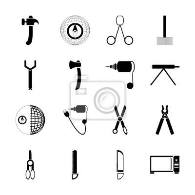 Icon Instrumente Und Werkzeuge Mit Clipart Schneiden