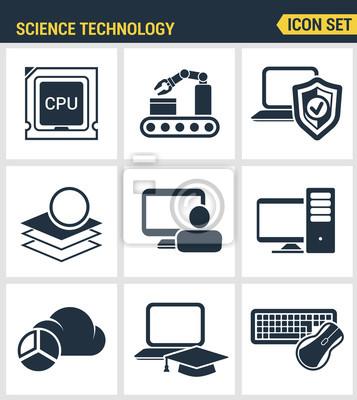 Icons gesetzt Premium-Qualität der Daten-Wissenschaft-Technologie, maschinellen Lernprozess. Moderne Piktogramme Sammlung flachen Design-Stil Symbol-Sammlung. Isoliert weißen Hintergrund.