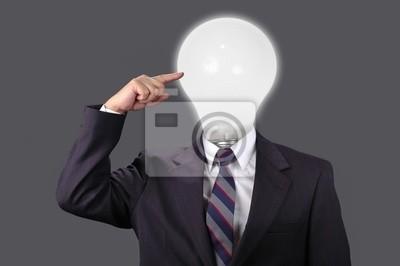 Ideen in der Business-Welt mit neutralen backgroun