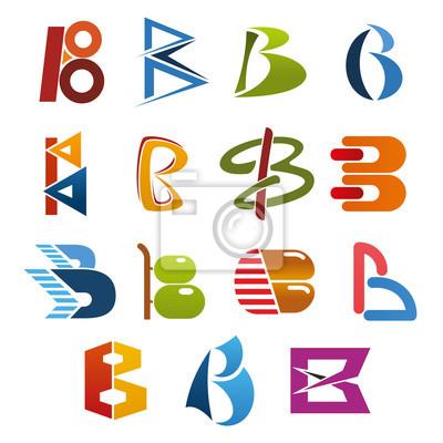 Ikone des Buchstaben B für abstrakten Geschäftsidentitäts-Schriftart