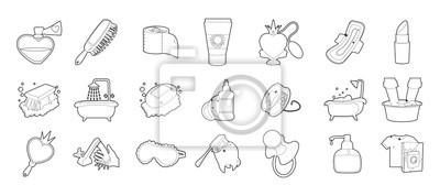 Ikonensatz der persönlichen Hygiene, Entwurfsart