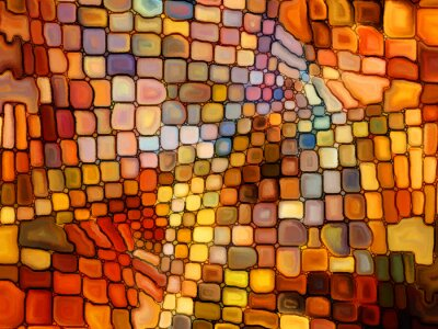 Fototapete Illusion of Stained Glass