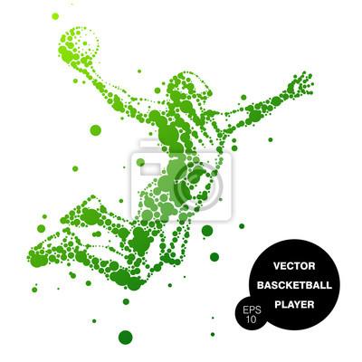 Illustration der abstrakten Basketballspieler im Sprung