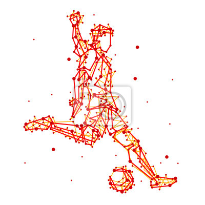 Illustration der abstrakten Fußball-Spieler