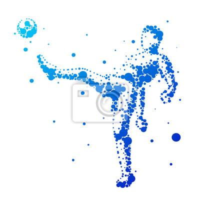 Illustration der abstrakten Fußballspieler.