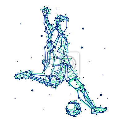 Illustration der abstrakten Fußballspieler