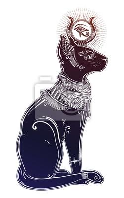 Illustration Der ägyptischen Katzengöttin Bastet Fototapete