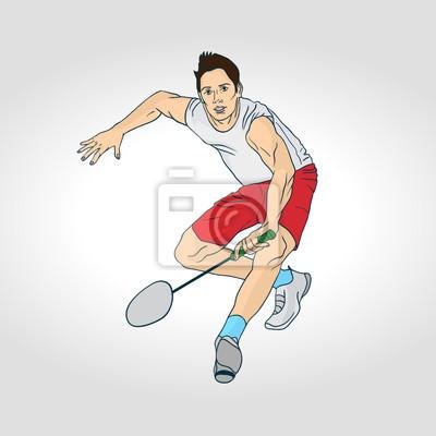 Illustration der Badminton: Badminton-Spieler