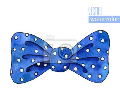 Illustration der blauen Aquarell Bogen mit Polka-Muster