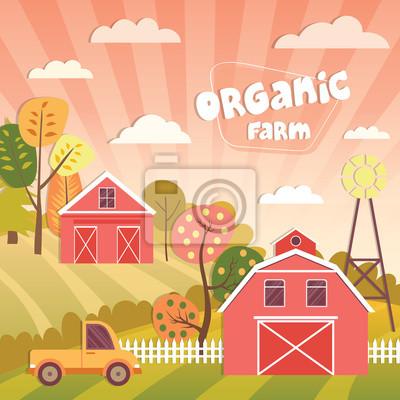 Illustration der landwirtschaft