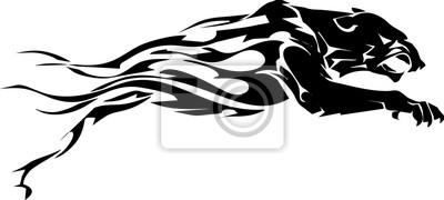 Illustration - Form Feuer ähnlich der schwarzen Tiger