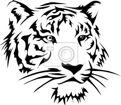 Illustration - Kopf und Ausdruck Gesicht des Tigers - für Tattoo-Design