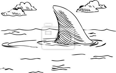 Illustration - Landschaft von unten und Oberfläche auf dem Meer