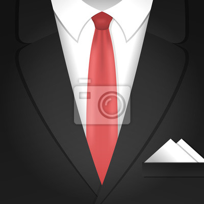 Illustration mit männlichen Kleidung Anzug