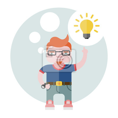illustration of the designer with a bulb