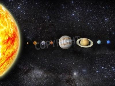 Fototapete Illustration unseres Sonnensystems - 3D REnder Karten von http planetpixelemporium com