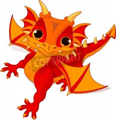 illustration von niedlichen cartoon baby-drachen
