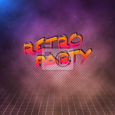 Illustration Von Retro Party 1980 Neon Poster Retro Disco 80s