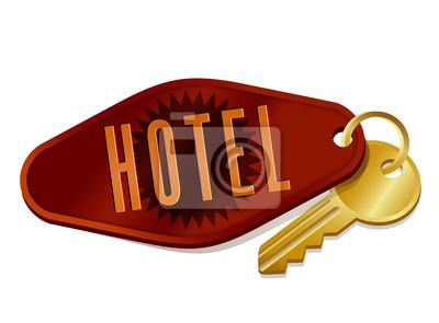 Illustration von Vintage Hotel / Motel Zimmerschlüssel
