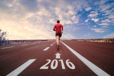 Fototapete Im Jahr 2016 laufen
