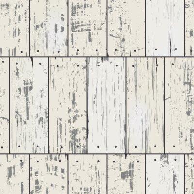 Fototapete Imitation Holzbretter mit Nägeln. Vector nahtlose Retro-Muster