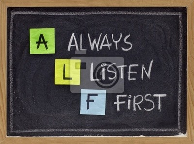immer zuerst hören - ALF Akronym
