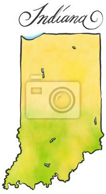 Indiana Karte