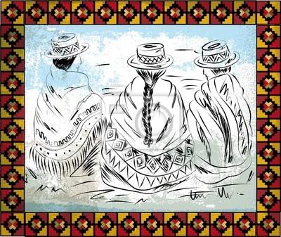 indigenen Frauen Illustration