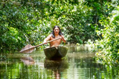 Fototapete Indigenes Hölzernes Kanu