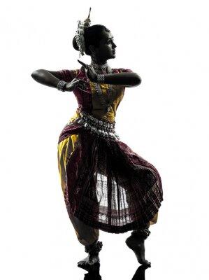Fototapete indische Frau Tänzer tanzen Silhouette
