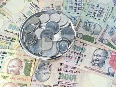 Indische Rupien Und Münzen Fototapete Fototapeten Rupie Gandhi