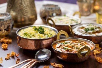Fototapete indisches Essen