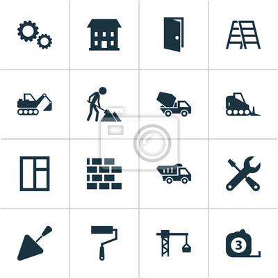 1cfac1c70740d top fototapete industrie icons set sammlung von zahnrad wand und andere  elemente with wand und set