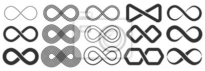 Fototapete Infinity symbol. Symbol of repetition and unlimited cyclicity.
