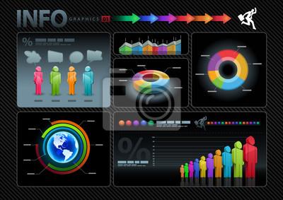Infografiken Set.
