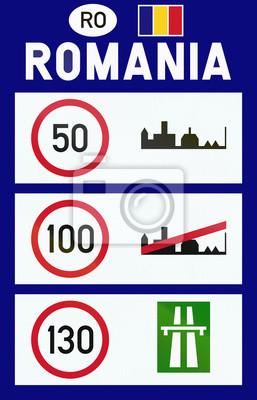 Informationen über Geschwindigkeitsbegrenzungen in Rumänien am Grenzübergang