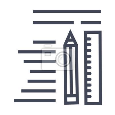 Inhalt Schreiben Symbol Fototapete Fototapeten Kurze Bewertung