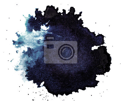 Fototapete Ink Droplet Close-up Isolated on White Background
