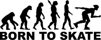 Fototapete Inline Skating Evolution