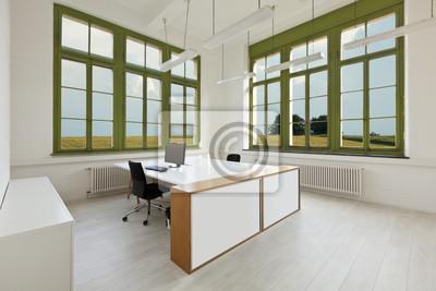 Innen Buro Mobel Mit Weissen Von Fenster Zu Sehen Fototapete
