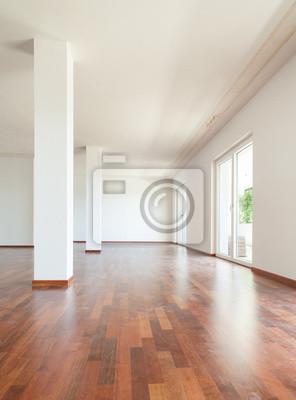 Bekannt Innen wohnung, großes wohnzimmer mit säulen fototapete ZM78