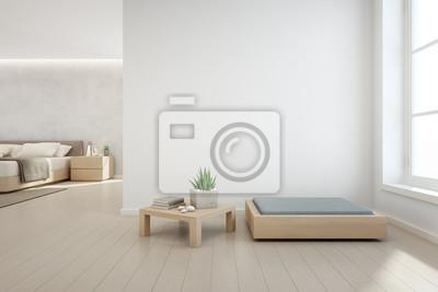 Fototapete: Innenanlage auf hölzernem couchtisch und modernen möbeln mit