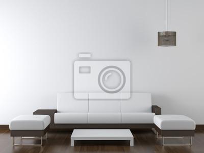 Fototapete Innenarchitektur Modernen Weißen Möbel Auf Weiße Wand