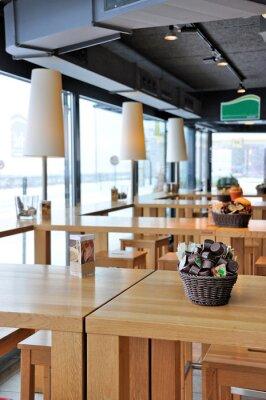 Fototapete Innenraum einer trendigen Café