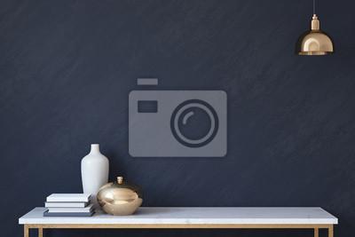 Fototapete Innenraum Mockup. 3d render