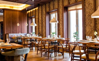 Fototapete Interior of the Chinese restaurant